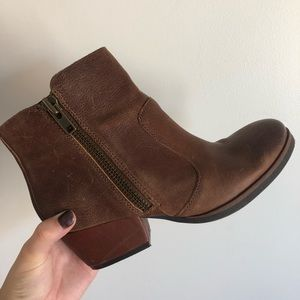 Kork-Ease brown leather bootie